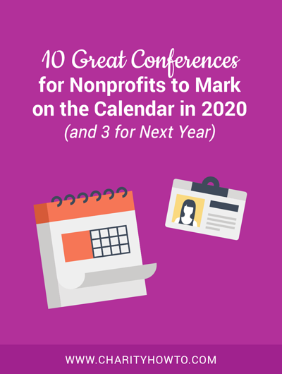 10 great conferences for nonprofits to mark on the calendar in 2020 (and 3 for next year)