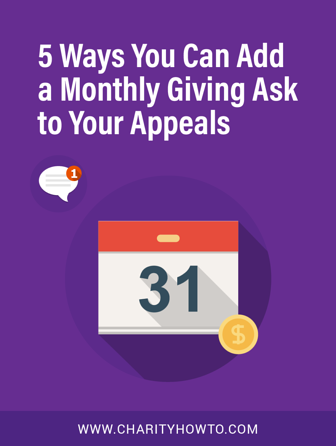5 Ways to Add Monthly Giving