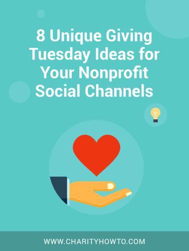 8 giving ideas nonprofits