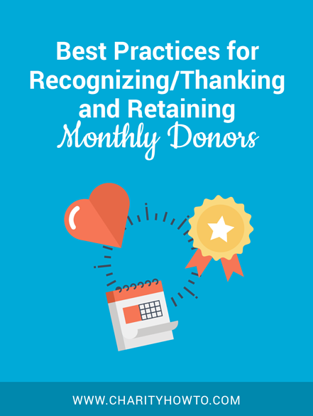 best practices for thanking and retaining monthly donors