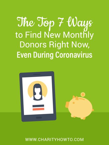 Finding donors during Coronavirus